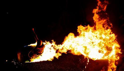 Рампа на белом Ниле. Трюки в огне.